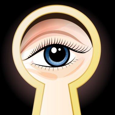 Look through a key hole