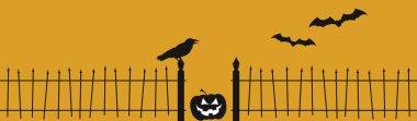 Halloween Raven Fence