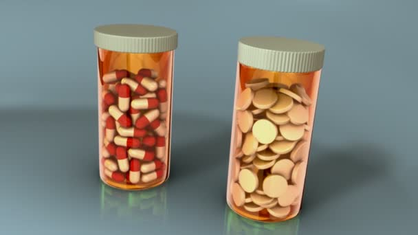 drugs, pills in containers
