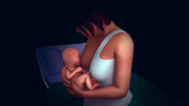 matka kojení dítěte