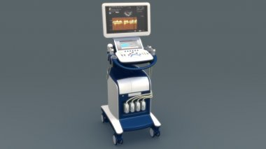 Heart Echo cardiogram machine.