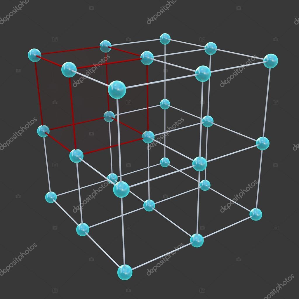 Crystal lattices and Unit Cells — Stock Photo © sciencepics