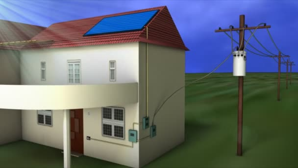 Solar energy industrial animation