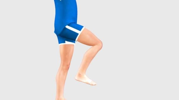 Man doing angular movement of knee joint