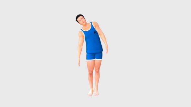 Man doing exercises for intervertebral joints