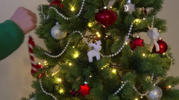 krásný vánoční stromek je vyzdoben
