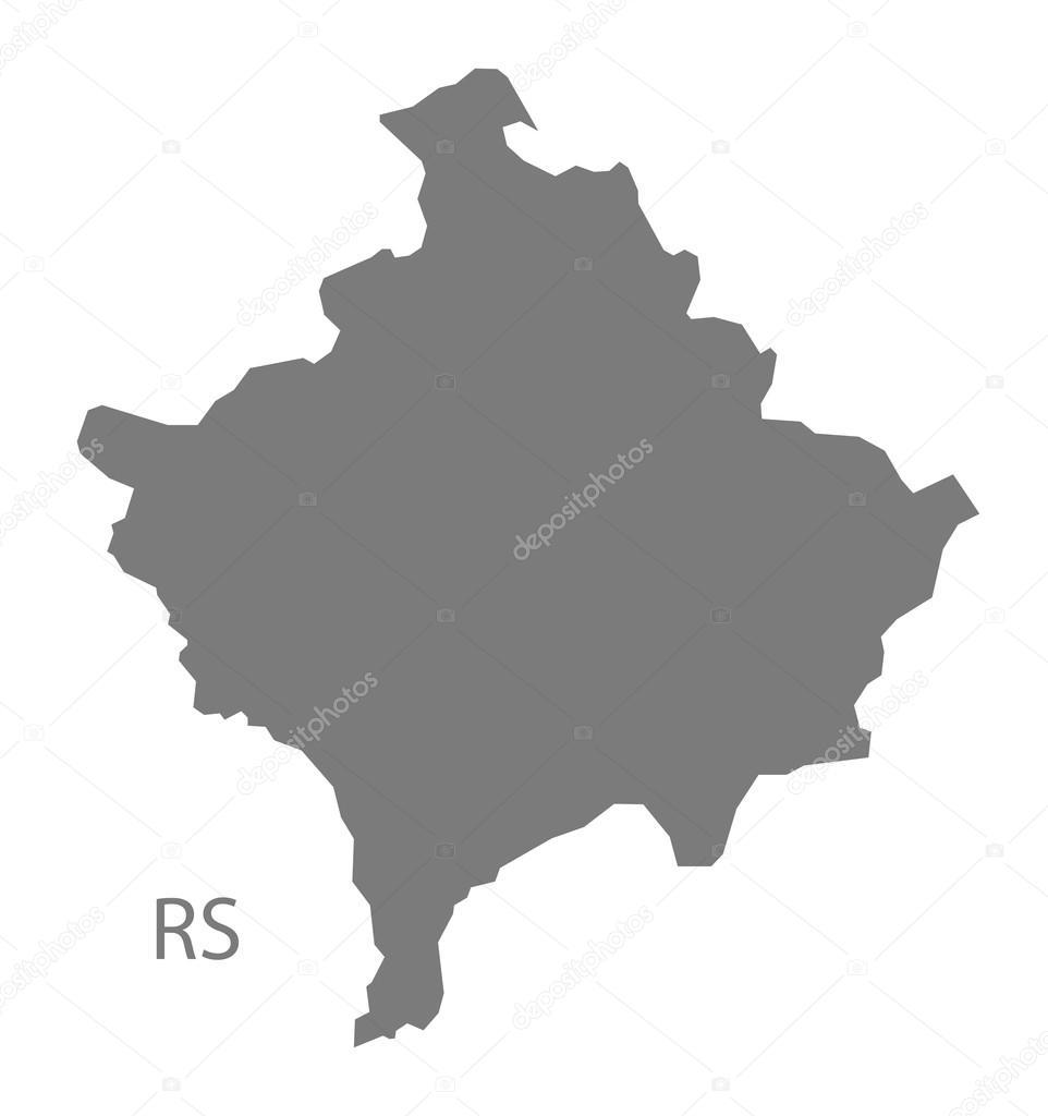 Kosovo map grey stock vector ingomenhard 122017140 kosovo map grey stock vector gumiabroncs Images