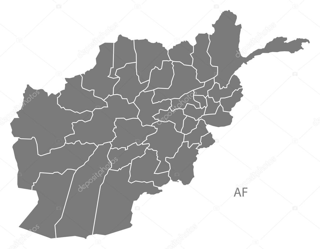 Karte Afghanistan Provinzen.Afghanistan Provinzen Karte Grau Stockvektor C Ingomenhard