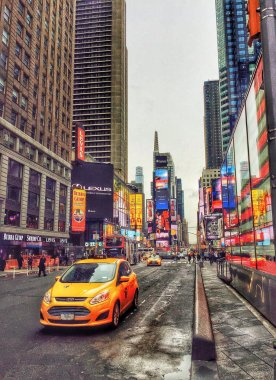 Yellow Cabs on Time Square
