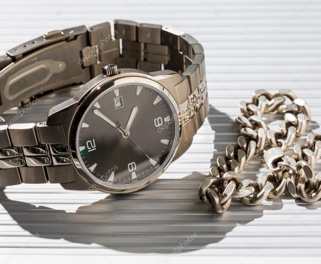 Wrist Watch. jewelry chain