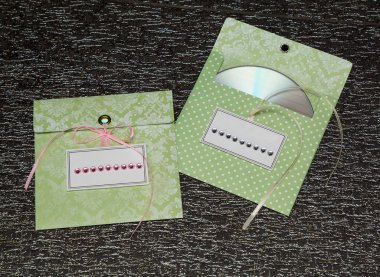 Envelopes for disks. black background