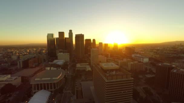 La légi downtown során naplemente