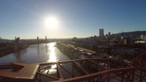 Portland anténu řeky mosty