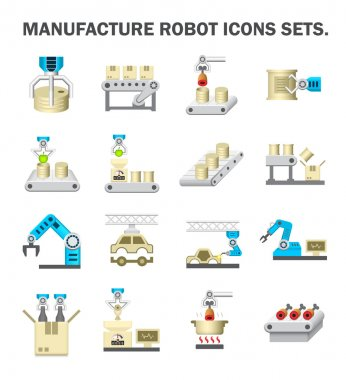 Robot production icons