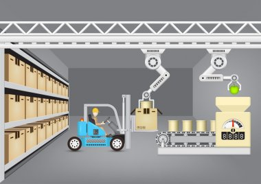 Manufacturing vector concept