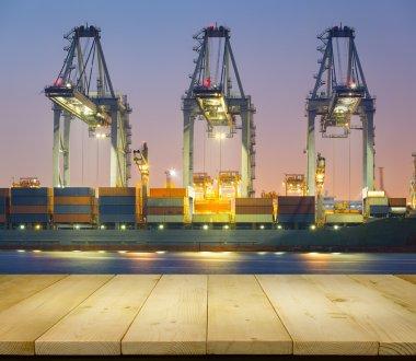 Cargo ship night