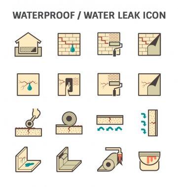 Waterproofing vector icon
