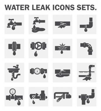 Pipe leak icon