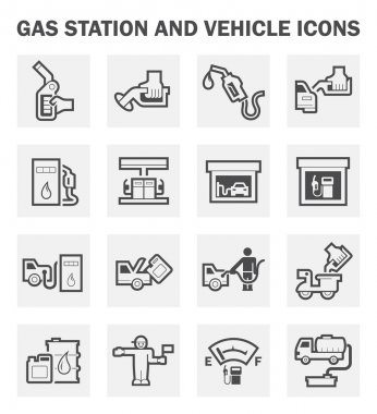 Gasoline station set