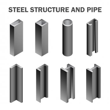 Steel pipe isolated