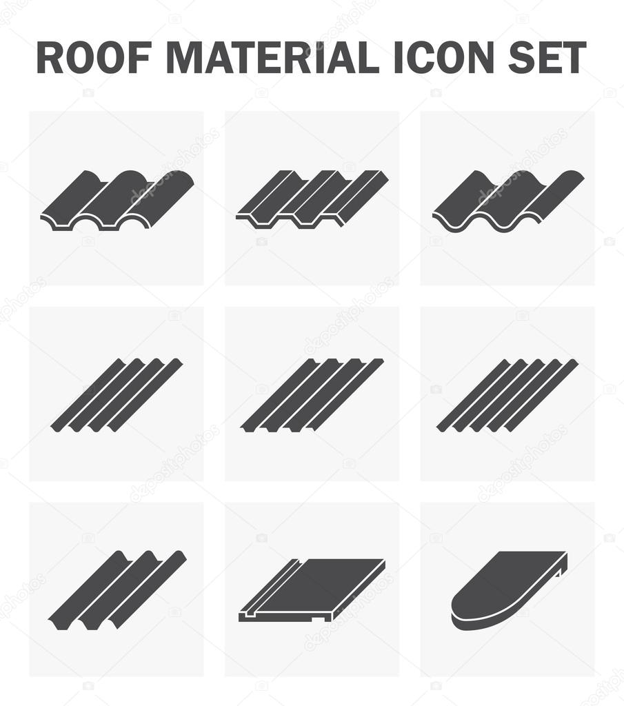 Roof tile icon