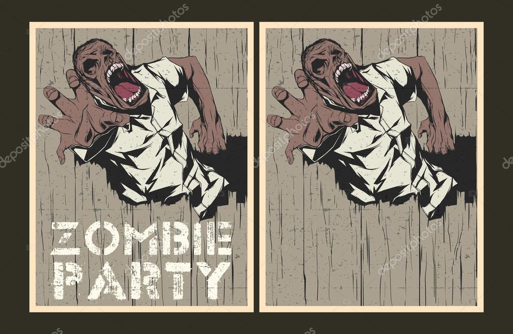 Zombie party invitation template stock vector megaspy 65481019 zombie party invitation template stock vector stopboris Gallery