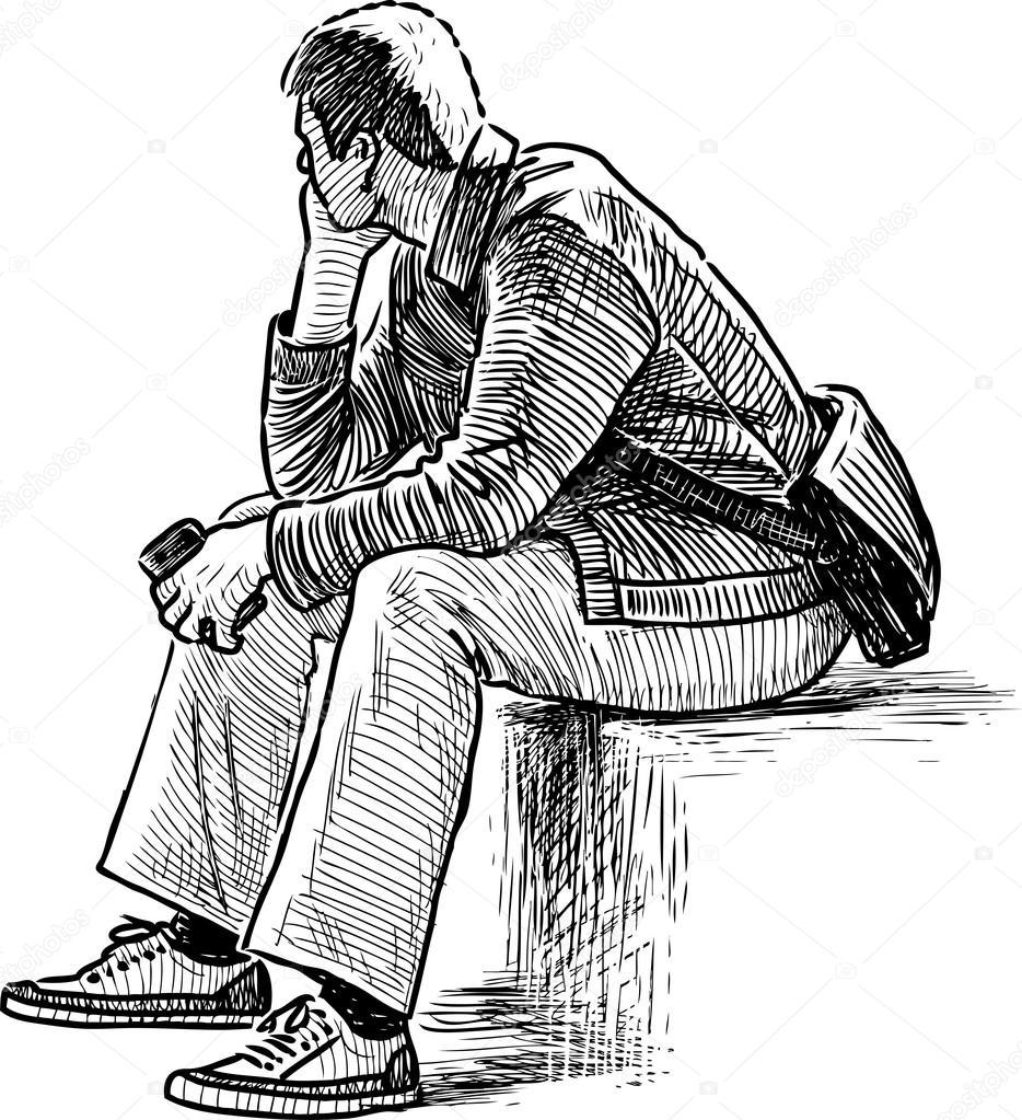Imágenes Persona Pensando Dibujo Dibujo De Persona Pensando