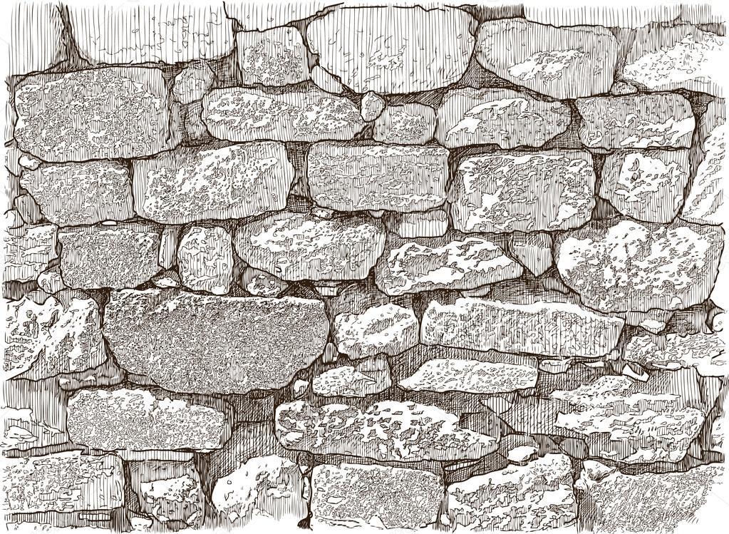 Croquis De Mur De Pierre Image Vectorielle Alekseimakarov 109257356