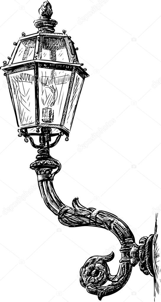 vintage street lamp stock vector alekseimakarov 79636956