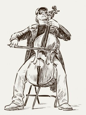 Street cellist
