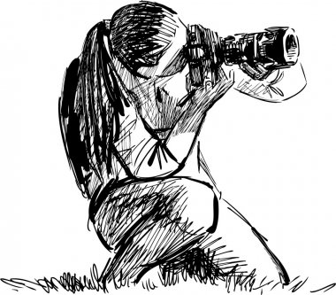 Sketch of a photographer