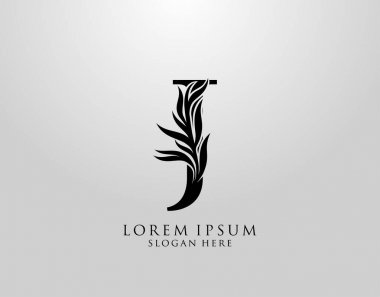 Letter J logo Nature Leaves Logo, alphabetical leaf icon. icon