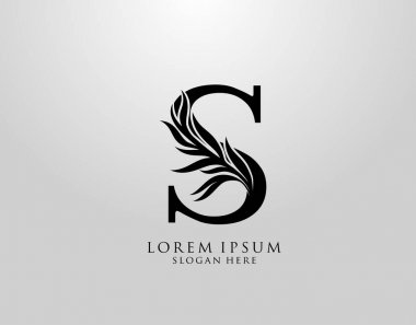 Letter S logo Nature Leaves Logo, alphabetical leaf icon. icon