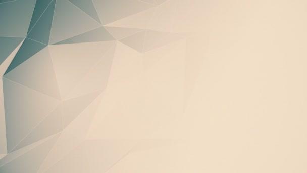 Nahtlos looping beige low poly motion Hintergrundanimation mit Kopierraum.
