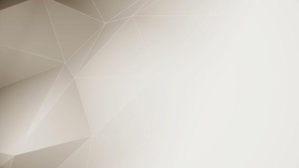 Bezproblémová smyčka hnědé nízké poly pohybu pozadí animace s kopírovacím prostorem.