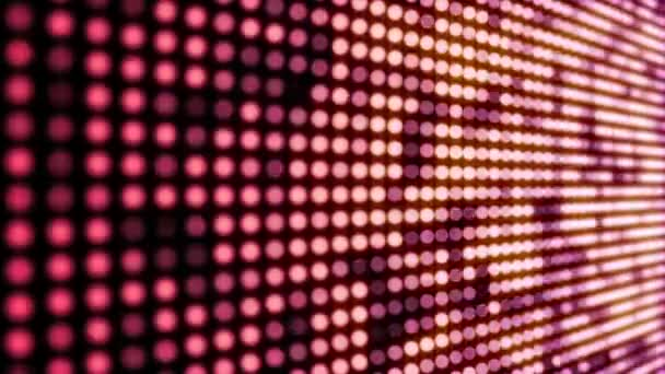 Zökkenőmentesen looping villogó piros LED lámpák videó fal mozgás háttér animáció.
