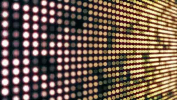 Villogó LED-lámpák falon mozgás háttér.