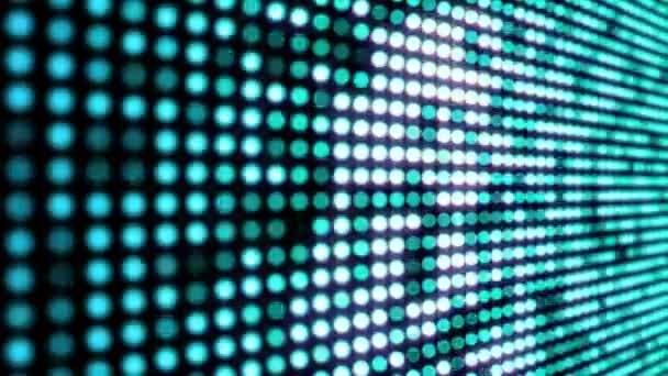 Zökkenőmentesen looping zöld és kék villogó LED lámpák videó fal mozgás háttér.