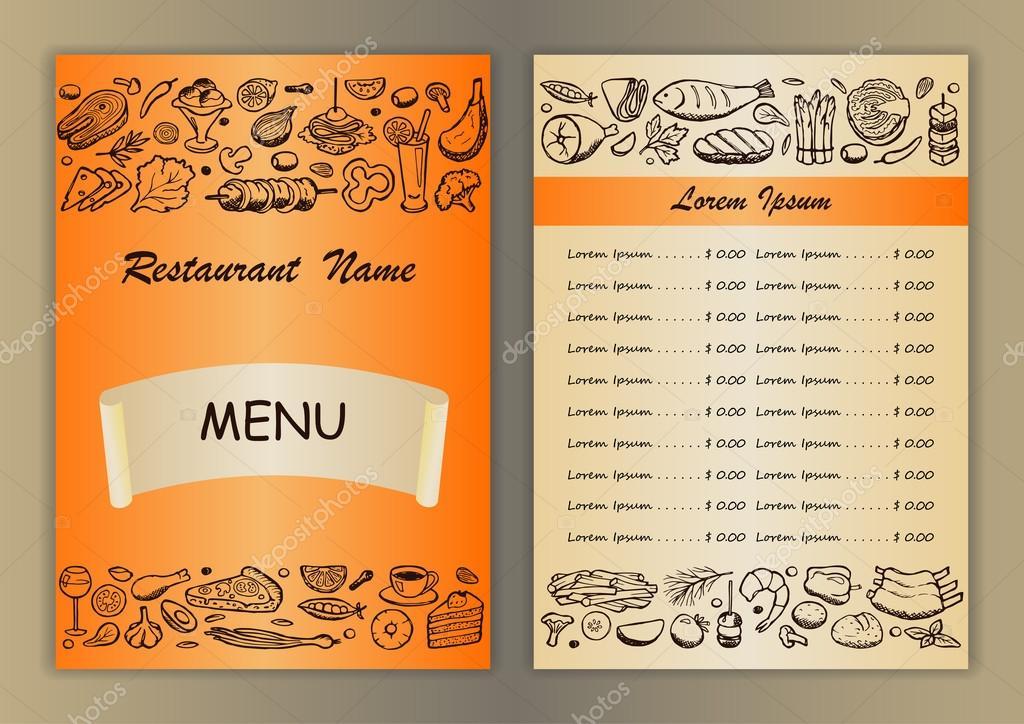 ejemplos de menus de restaurantes para imprimir menú de