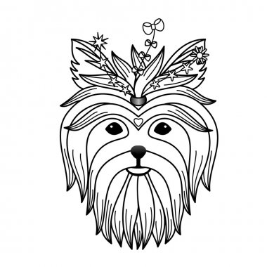 Yorkshire terrier tattoo
