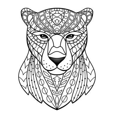 Ornamental Black Panther