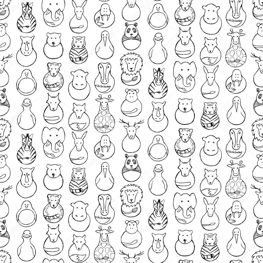 Patrón sin fisuras de los niños de los juguetes del animal — Vector ...