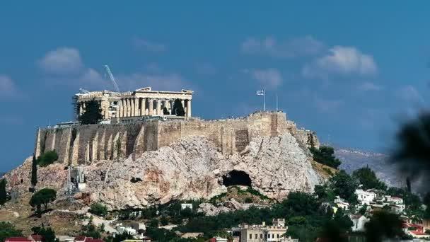 Parthenonu na Akropoli pohybu zobrazení