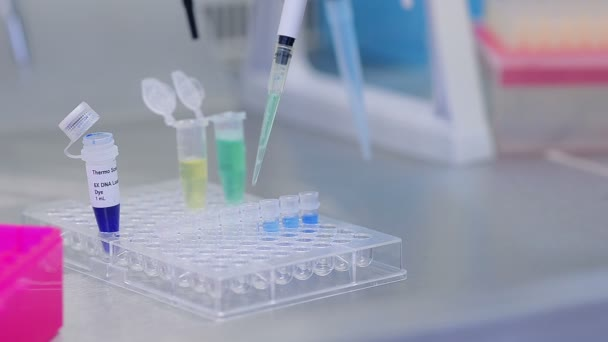 Close Up Of Biological Research DNA