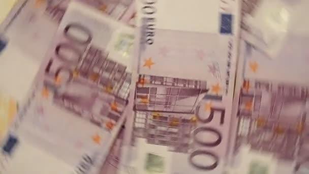 Abstract Close Up Euro Banknotes 500 five hundred