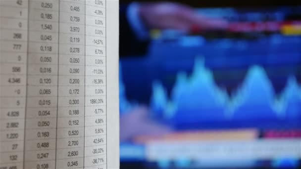 Abstract Close Up Stock Exchange Market Analyze