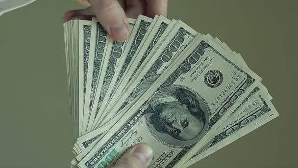 Male Hands Count Hundred Dollar Bills
