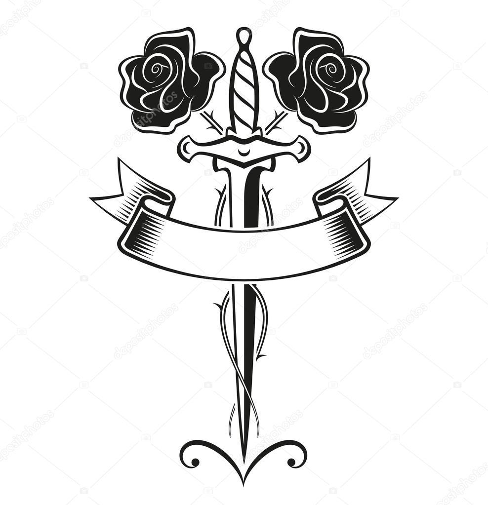 Czarne Róże Tatuaż Grafika Wektorowa Thunalab 64914913