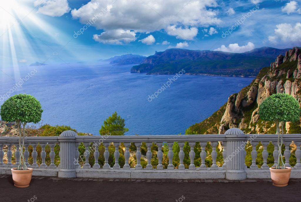 Terrace with sea views ,France