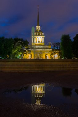 fountain near the Admiralty in St. Petersburg, Russia